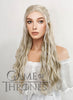 Game of Thrones Daenerys Targaryen Long Curly Light Ash Blonde Braided Lace Front Synthetic Wig LF2017