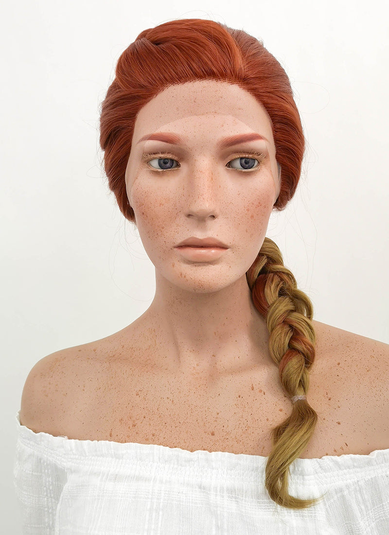 Avengers Endgame Black Widow Long Auburn Blonde Ombre Braided Lace Front Synthetic Wig LF2047 - CosplayBuzz