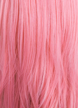 Lady Gaga Long Pink Braided Lace Front Synthetic Wig LF2056 - CosplayBuzz
