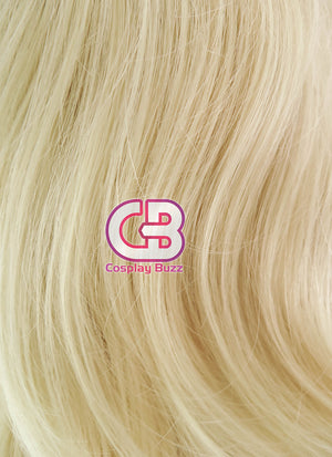 Medium Wavy Golden Blonde Lace Front Synthetic Hair Wig LF206 - CosplayBuzz