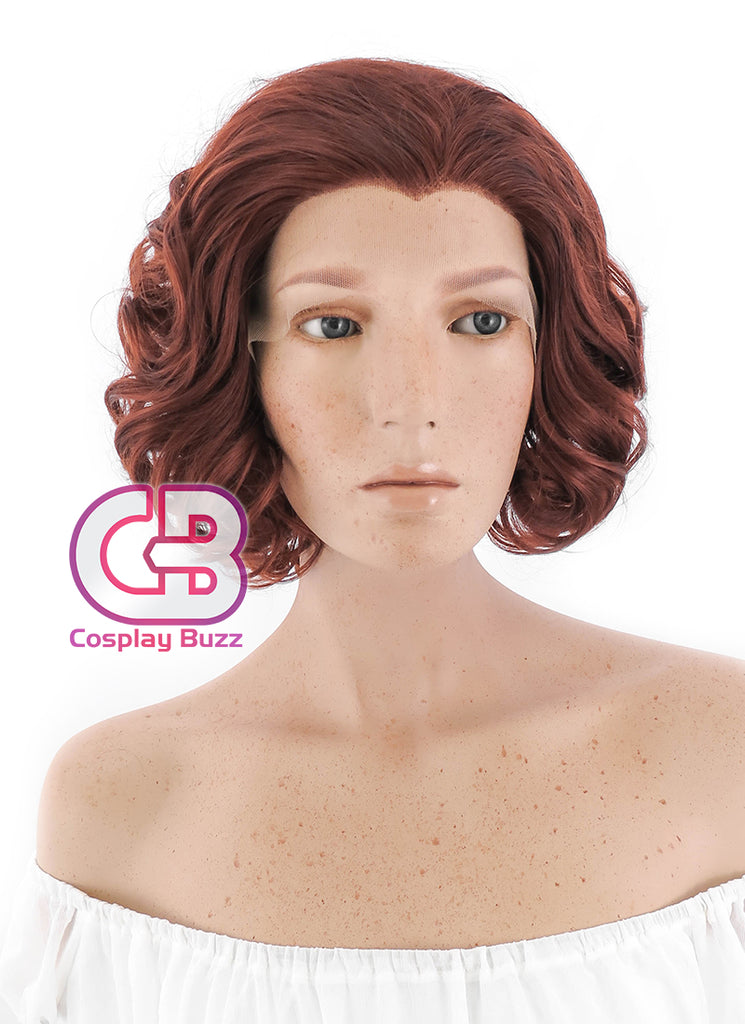 "10"" Short Curly Reddish Brown Lace Front Synthetic Hair Wig LF253 - CosplayBuzz"