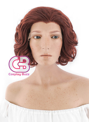 Marvel Avengers Black Widow Short Wavy Reddish Brown Lace Front Synthetic Hair Wig LF253 - CosplayBuzz