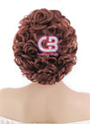 Short Wavy Reddish Brown Lace Front Synthetic Hair Wig LF253 - CosplayBuzz