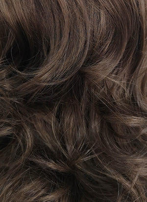 Medium Wavy Brown Lace Front Synthetic Hair Wig LF256 - CosplayBuzz