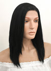 Medium Straight Jet Black Lace Front Synthetic Hair Wig LF262 - CosplayBuzz