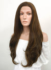 Long Wavy Mixed Brown Lace Front Synthetic Hair Wig LF321 - CosplayBuzz