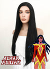 Marvel Alpha Flight Talisman Cosplay Long Straight Jet Black Lace Front Wig LF327 - CosplayBuzz