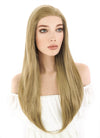 Long Straight Medium Blonde Lace Front Synthetic Hair Wig LF331 - CosplayBuzz