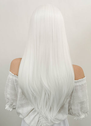 Long Straight White Lace Front Synthetic Hair Wig LF387 - CosplayBuzz