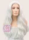 Long Wavy White Lace Front Synthetic Hair Wig LF388 - CosplayBuzz