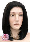 Short Straight Bob Black Lace Front Synthetic Hair Wig LF437 - CosplayBuzz