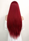Long Straight Yaki Red Lace Front Synthetic Hair Wig LF624A