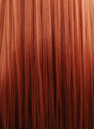 Gravity Falls Wendy Long Straight Yaki Reddish Orange Lace Front Synthetic Hair Wig LF624 - CosplayBuzz
