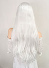 Long Wavy Platinum White Lace Front Synthetic Hair Wig LF640H - CosplayBuzz