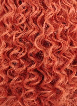 Long Spiral Curly Reddish Orange Lace Front Synthetic Hair Wig LF663J - CosplayBuzz