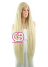 Long Straight Yaki Blonde Lace Front Synthetic Hair Wig LF701E - CosplayBuzz