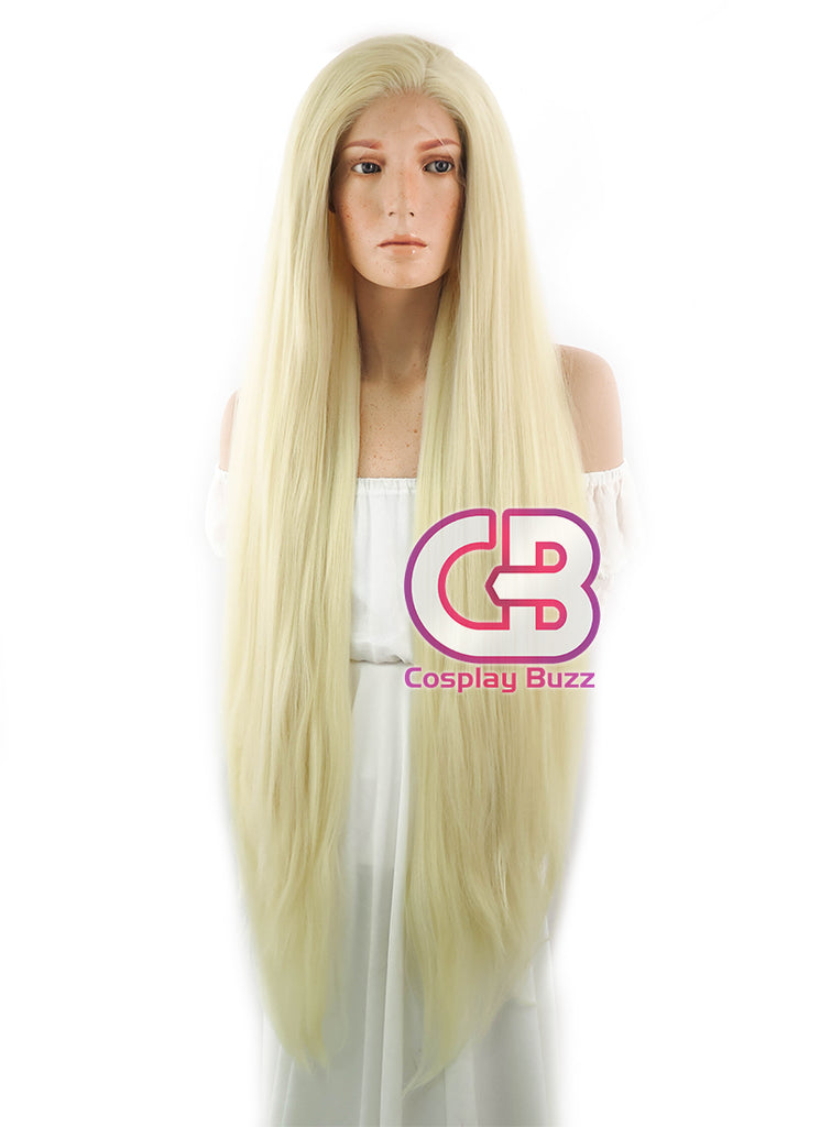 "39"" Long Straight Yaki Blonde Lace Front Synthetic Hair Wig LF701E - CosplayBuzz"