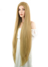 Long Straight Yaki Blonde Lace Front Synthetic Hair Wig LF701S - CosplayBuzz