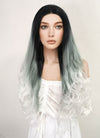Long Wavy Black Grey White Mixed Lace Front Synthetic Hair Wig LF781 - CosplayBuzz