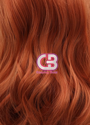 Long Wavy Reddish Orange Lace Front Synthetic Hair Wig LW085A - CosplayBuzz