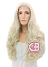 Long Wavy Light Blonde Lace Front Synthetic Hair Wig LW085D