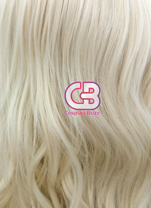 Long Wavy Light Blonde Lace Front Synthetic Hair Wig LW085D - CosplayBuzz