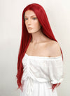 Long Straight Red Lace Front Synthetic Hair Wig LW150C - CosplayBuzz
