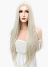 Long Straight Platinum Blonde Lace Front Synthetic Hair Wig LW150D - CosplayBuzz