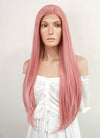 Long Straight Pastel Pink Lace Front Synthetic Hair Wig LW238B - CosplayBuzz