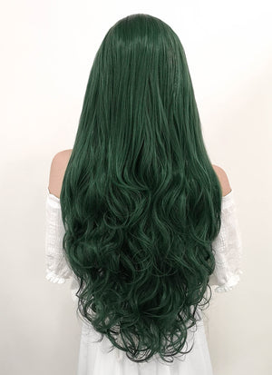 Long Wavy Deep Sea Green Lace Front Synthetic Hair Wig LF667V - CosplayBuzz