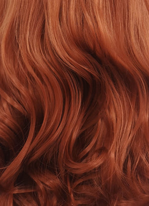 Long Curly Reddish Brown Lace Front Synthetic Hair Wig LW735