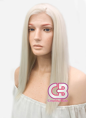 Long Straight Light Blonde Lace Front Synthetic Hair Wig LW836D - CosplayBuzz