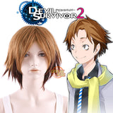 DEVIL SURVIVOR 2 Shijima Daichi Short Two Tone Brown Anime Cosplay Wig MY045