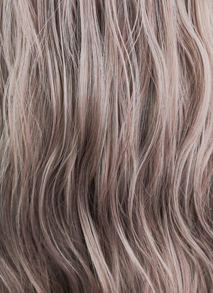 Long Wavy Mixed Ash Purple Cosplay Wig NS093