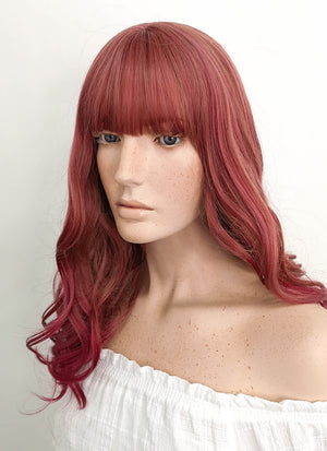 Long Wavy Mixed Red Cosplay Wig NS099