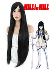 Kill LA Kill Satsuki Kiryuin Long Straight Black Anime Cosplay Wig PL001B - CosplayBuzz