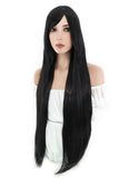 100CM Long Straight Black Cosplay Wig PL001