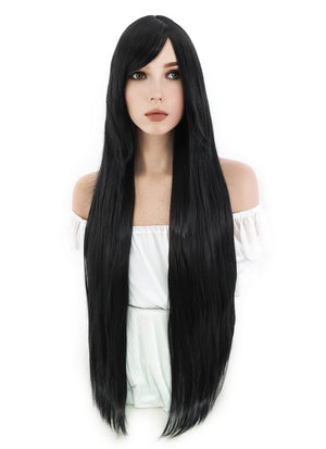 Sailor Moon Sailor Mars Long Black Anime Cosplay Wig PL001A - CosplayBuzz