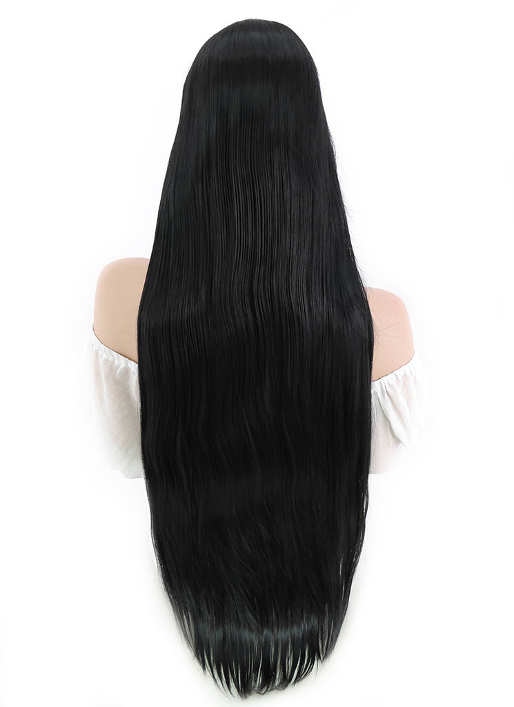 Long Straight Black Cosplay Wig PL001 - CosplayBuzz