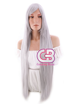 Long Straight Silver Grey Cosplay Wig PL006 - CosplayBuzz