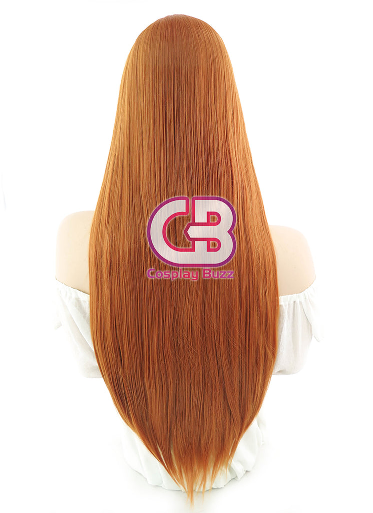 Long Straight Pumpkin Orange Cosplay Wig PL010A - CosplayBuzz
