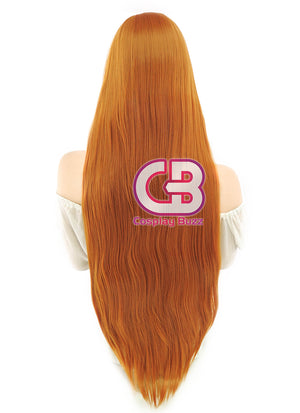 Long Straight Pumpkin Orange Cosplay Wig PL010 - CosplayBuzz