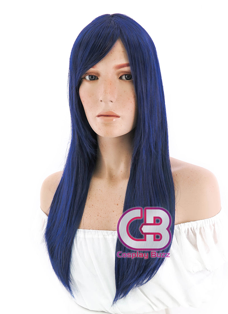 Long Straight Dark Blue Cosplay Wig PL018 - CosplayBuzz