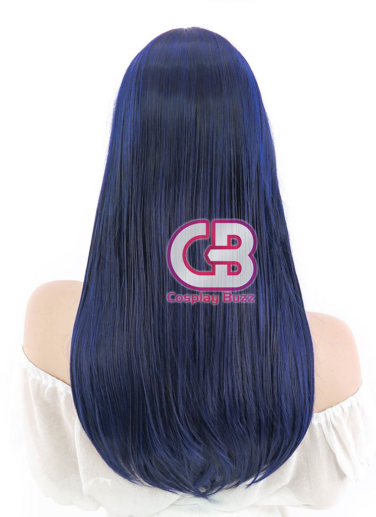 "24"" Long Straight Dark Blue Cosplay Wig PL018 - CosplayBuzz"