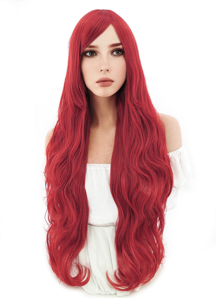 "Walt Disney ""The Little Mermaid"" Ariel Long Curly Red Anime Cosplay Wig PL028A - CosplayBuzz"