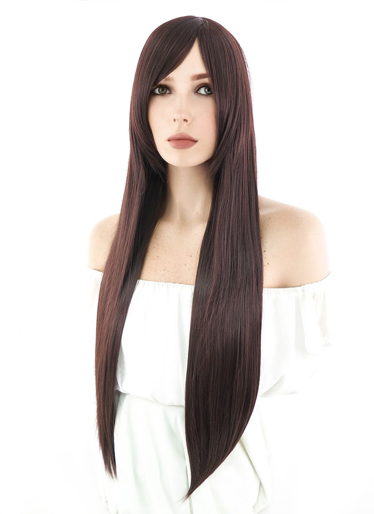 80CM Long Straight Brown Cosplay Wig PL287