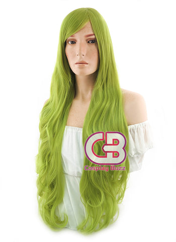 Long Wavy Ash Green Cosplay Wig PL385