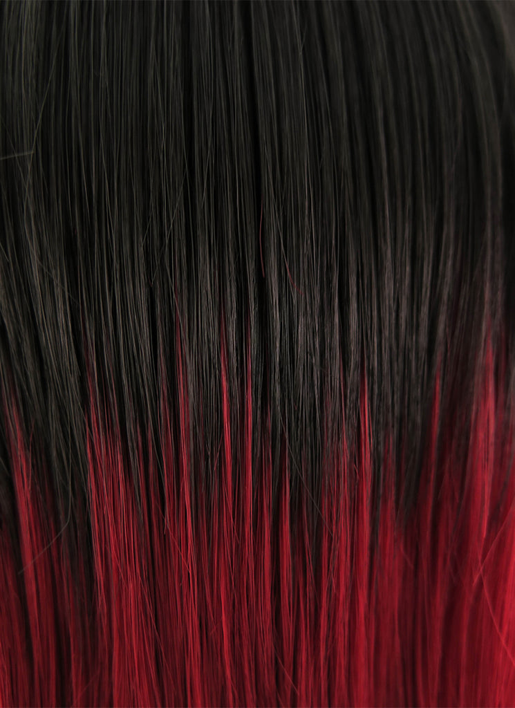 RWBY Ruby Rose Short Brown Mixed Red Anime Cosplay Wig PL358A