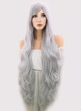 Marvel Comics Black Cat Long Silver Grey Anime Cosplay Wig PL368A - CosplayBuzz