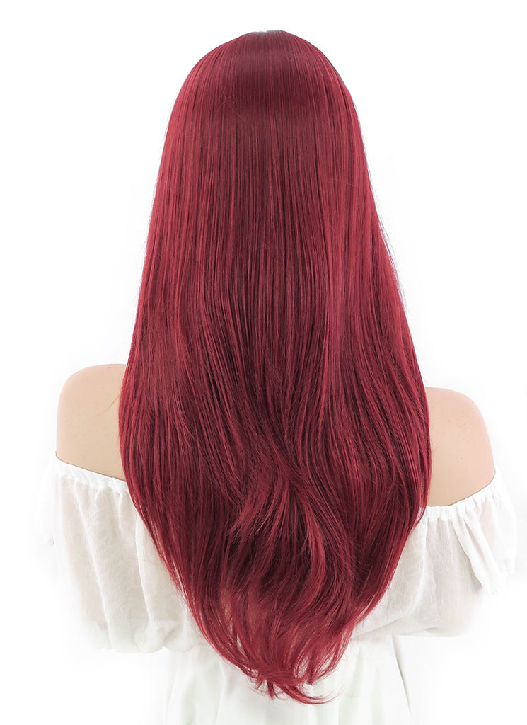 Batman Poison Ivy Long Wavy Dark Red Anime Cosplay Wig PL377A - CosplayBuzz